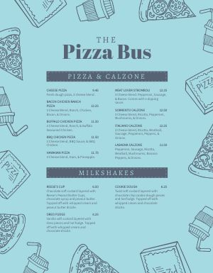Pizza Truck Menu