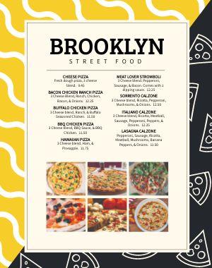 Street Food Menu Poster
