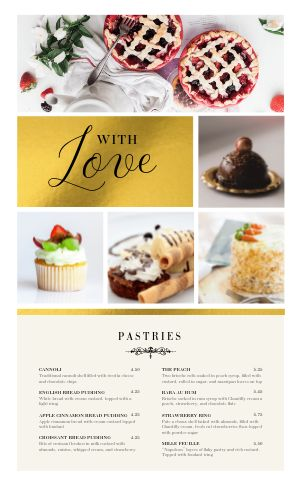 Bakery Menu Sample