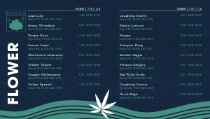 Dispensary Digital Menu Board Inspiration