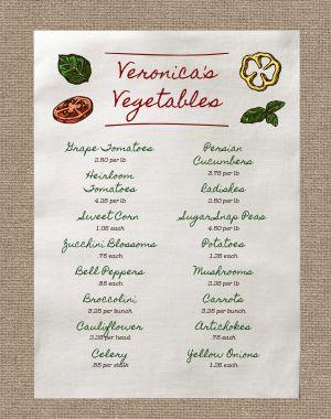 Farmers Market Menu Poster Sample