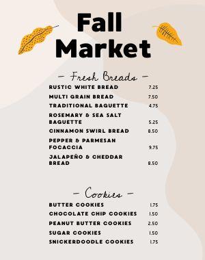 Fall Market Menu Poster