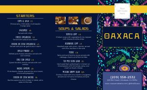 Lunch Mexican Takeout Menu