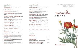 Lunch Cantina Takeout Menu