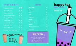 Bubble Tea Cafe Takeout Menu