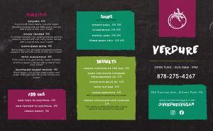Easy Design Vegan Takeout Menu