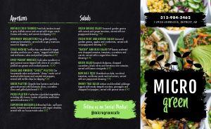 Vegan Salad Takeout Menu