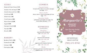 Example Brunch Takeout Menu