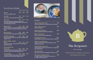 Tea Lounge Folded Menu