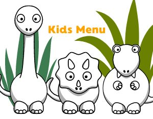 Dinosaur Children's Menu
