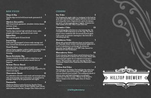 Brewery Folded Menu Example
