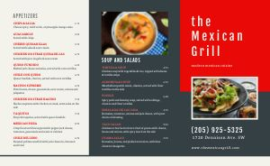 Mexican Grill Takeout Menu