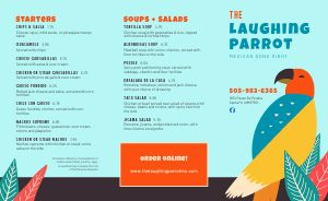 Bright Mexican Takeout Menu
