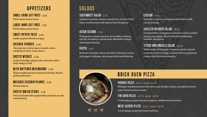 Pizza Digital Menu