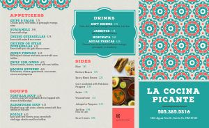 Easy Edit Mexican Takeout Menu