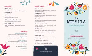 Easy Design Mexican Takeout Menu