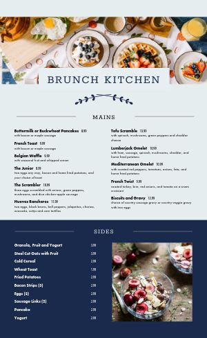 Brunch Kitchen Menu