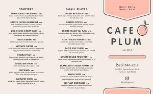 Cafe Cuisine Takeout Menu