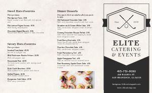 Elite Catering Takeout Menu