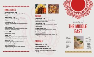 Gray Middle Eastern Takeout Menu