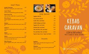 Orange Kebab Takeout Menu