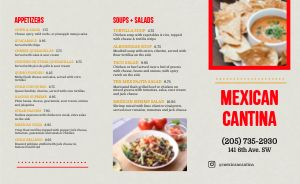 Sample Mexican Cantina Takeout Menu