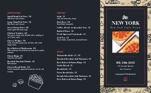 New York Style Pizza Takeout Menu