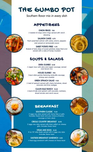 Soul Food Menu Sample