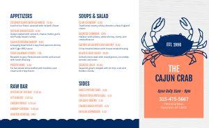 Cajun Crab Takeout Menu
