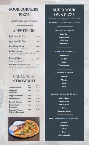 City Pizza Menu