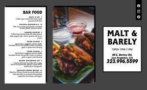 Happy Hour Bar Takeout Menu