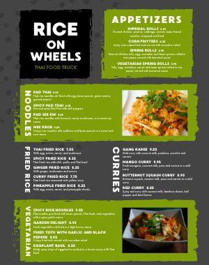 Thai Food Cart Menu Example Poster