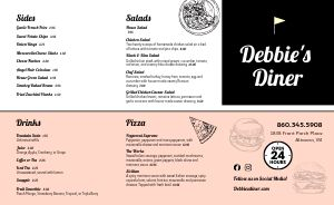 American Diner Style Takeout Menu