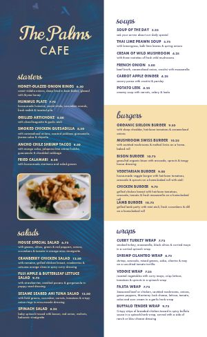 Easy Edit Cafe Menu