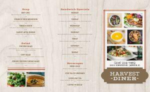 Woodgrain Diner Takeout Menu