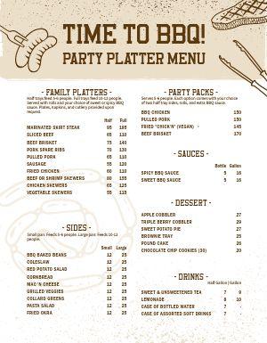 Barbeque Party Platter Menu