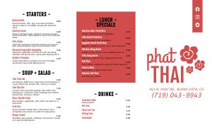 Thai Cafe Takeout Menu