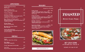 Brick Oven Pizza Takeout Menu