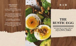 Rustic Egg Takeout Menu