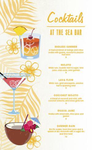 Beach Cocktail Menu