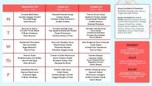 Dining Hall Specials Digital Menu Board