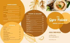 Greek Cuisine Takeout Menu