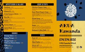 African Cuisine Takeout Menu
