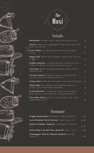 Restaurant Cocktail Menu