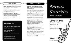 Steakhouse BBQ Takeout Menu