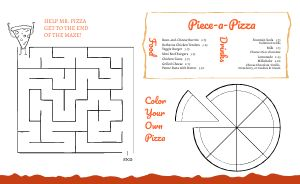 Pizzeria Kids Menu