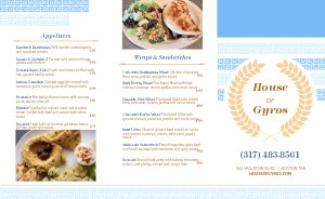 Light Greek Takeout Menu