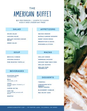 American Buffet Menu