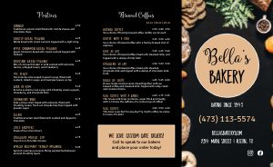 Bakery Takeout Menu