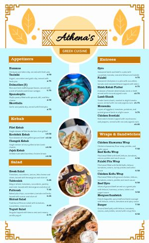 Greek Menu Inspiration